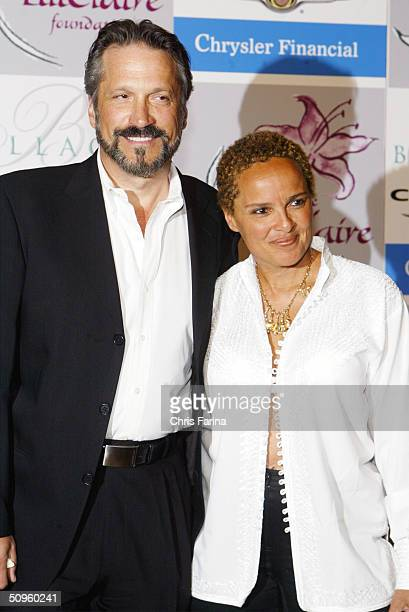Sam Behrens and Shari Belafonte arrive at the Lili Claire Foundations' 2004 Las Vegas Benefit Gala June 12 2004 at the Bellagio Hotel in Las Vegas...