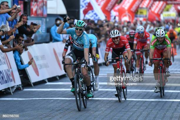 Sam Bennett of BORA Hansgrohe Germany celebrates victory after winning Stage 2 of the 53rd Presidential Cycling Tour of Turkey 2017 Kumluca to...