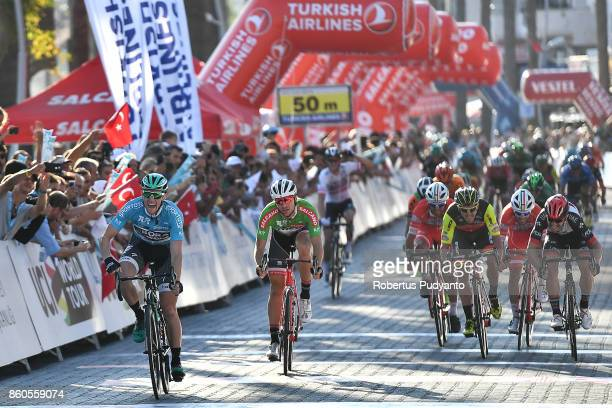 Sam Bennett of BORA Hansgrohe Germany reacts after winning Stage 3 of the 53rd Presidential Cycling Tour of Turkey 2017 Fethiye to Marmaris on...