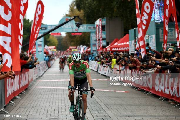 Sam Bennett of BoraHansgrohe team competes in the sixth stage between BursaIstanbul within the 54th Presidential Cycling Tour of Turkey 2018 in...