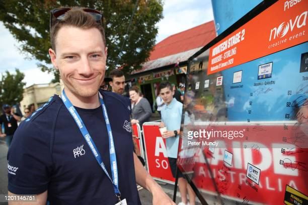 Sam Bennett of Ireland and Deceuninck - Quickstep at Stage 2 from Woodside to Stirling of the 22nd Santos Tour Down Under on January 22, 2020 in...