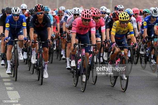 Sam Bennett of Ireland and Team Deceuninck - Quick-Step, Andrey Amador of Costa Rica and Team INEOS Grenadiers, Ruben Guerreiro of Portugal and Team...