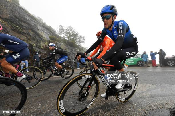 Sam Bennett of Ireland and Team Deceuninck - Quick-Step / Ben Dyball of Australia and NTT Pro Cycling Team / Fans / Public / during the 75th Tour of...