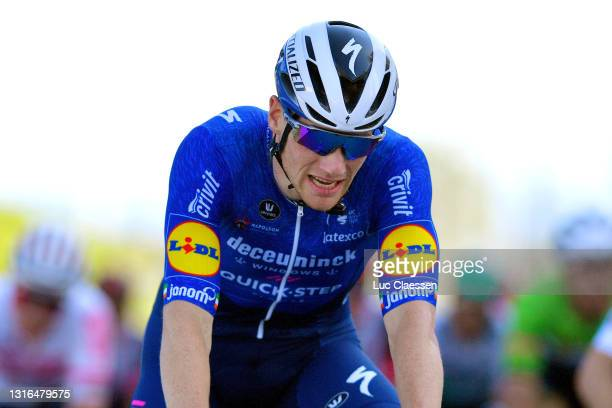 Sam Bennett of Ireland and Team Deceuninck - Quick-Step celebrates at arrival during the 47th Volta Ao Algarve 2021, Stage 1 a 189,5km stage from...