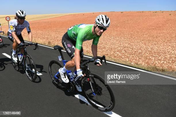 Sam Bennett of Ireland and Team Deceuninck - Quick-Step Green Points Jersey / Shane Archbold of New Zealand and Team Deceuninck - Quick-Step / during...