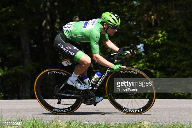Sam Bennett of Ireland and Team Deceuninck - Quick-Step Green Points Jersey / during the 107th Tour de France 2020, Stage 15 a 174,5km stage from...