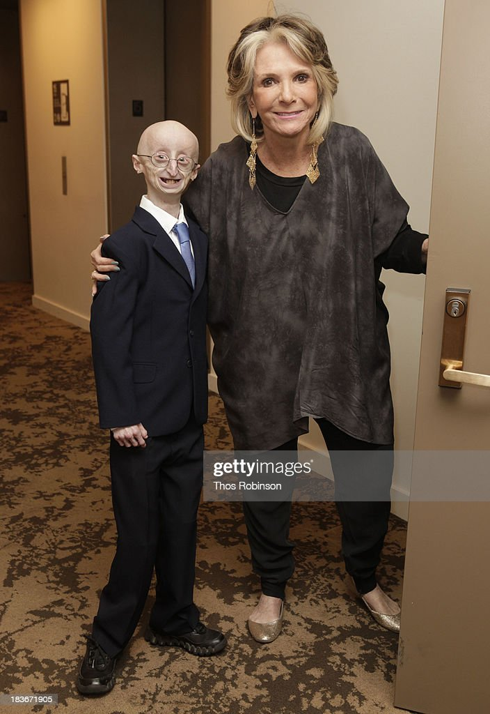 Sam Berns and Sheila Nevins, president of HBO Documentary Films attend The New York Premiere Of HBO's 'Life According To Sam' at HBO Theater on October 8, 2013 in New York City.