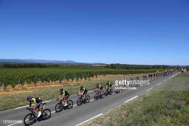 Sam Bewley of New Zealand and Team Mitchelton - Scott / Jack Bauer of New Zealand and Team Mitchelton - Scott / Luka Mezgec of Slovenia and Team...