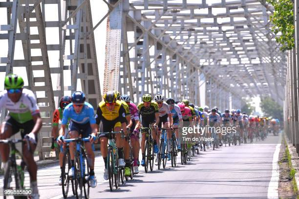 Sam Bewley of New Zealand and Team Mitchelton-Scott / Peloton / Bridge / during the 101st Tour of Italy 2018, Stage 13 a 180km stage from Ferrara to...