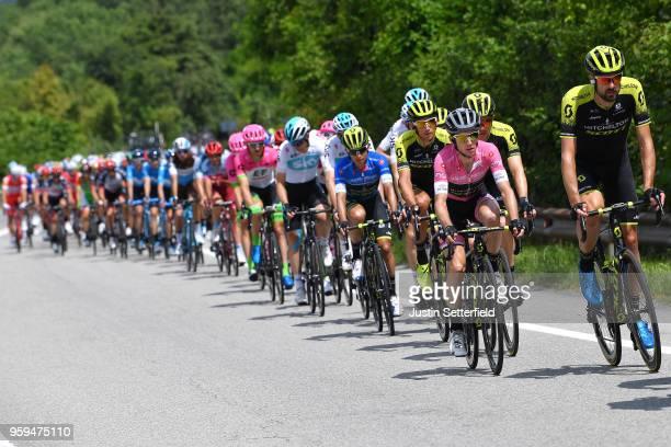 Sam Bewley of New Zealand and Team MitcheltonScott / Simon Yates of Great Britain and Team MitcheltonScott Pink Leader Jersey / Christopher Juul...