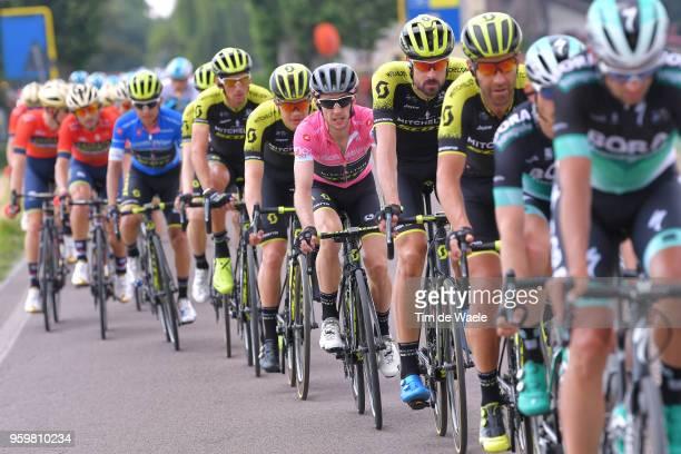 Sam Bewley of New Zealand and Team Mitchelton-Scott / Simon Yates of Great Britain and Team Mitchelton-Scott Pink Leader Jersey / Jack Haig of...