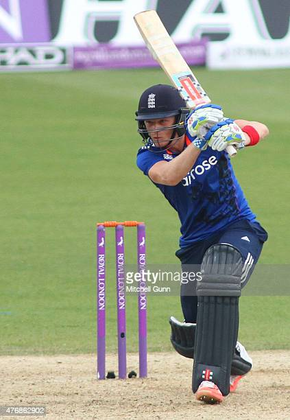 Sam Billings of England during the second ODI Royal London OneDay Series 2015 between England and New Zealand at Kia Oval on June 12 2015 in London...