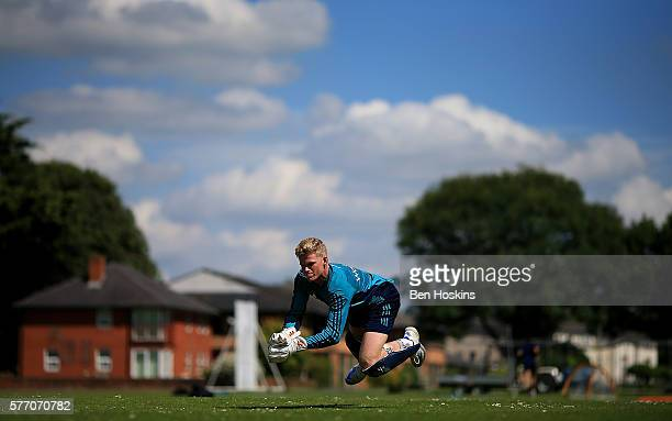 Sam Billings of England in action during England Lions Media Access on July 18 2016 in Cheltenham England