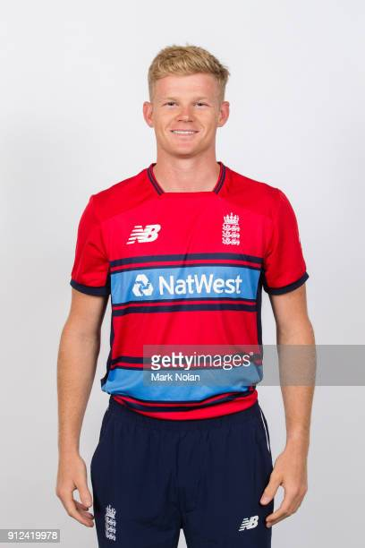 Sam Billings of England poses during the England Twenty20 Headshots Session at Hotel Realm on January 31 2018 in Canberra Australia