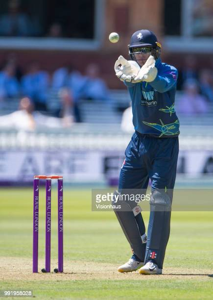 Sam Billings of Kent during the Royal London OneDay Cup match between Hampshire and Kent at Lord's Cricket Ground on June 30 2018 in London England