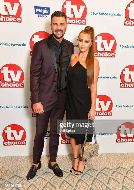 Sam Bird and Georgia Steel attend the TV Choice Awards at The Dorchester on September 10 2018 in London England