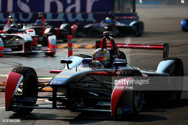 Sam Bird of Great Britain and DS Virgin Racing Formula E Team competes during the Mexico City Formula E Championship 2016 at Autodromo Hermanos...