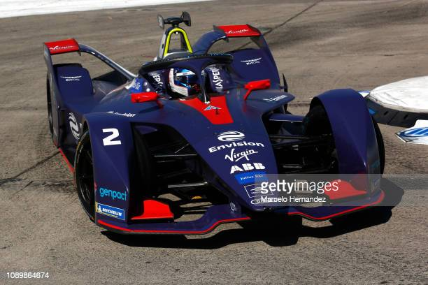Sam Bird of Virgin competes during the 2019 Antofagasta Minerals Santiago EPrix as part of Formula E 2019 season on January 26 2019 in Santiago Chile