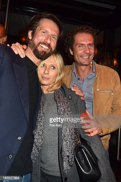 Sam Bobino actress Valerie Steffen and PR Nicolas Mereau attend the 'Zak' After Screening Party At Le Saint Germain Restaurant Club on October 21...