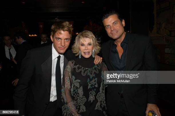 Sam Bolton Joan Rivers and Douglas Hannant attend Scott Currie's 40th Birthday Dinner at Doubles on September 20 2004 in New York City
