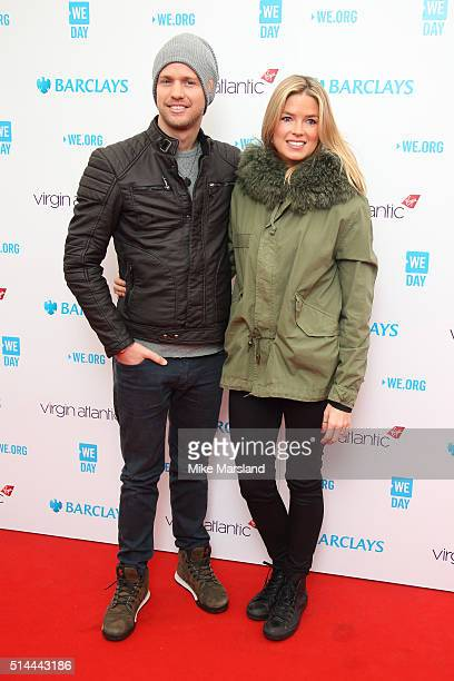 Sam Branson and Isabella Calthorpe arrive for WE Day at SSE Arena on March 9 2016 in London England WE Day is a celebration of youth making a...