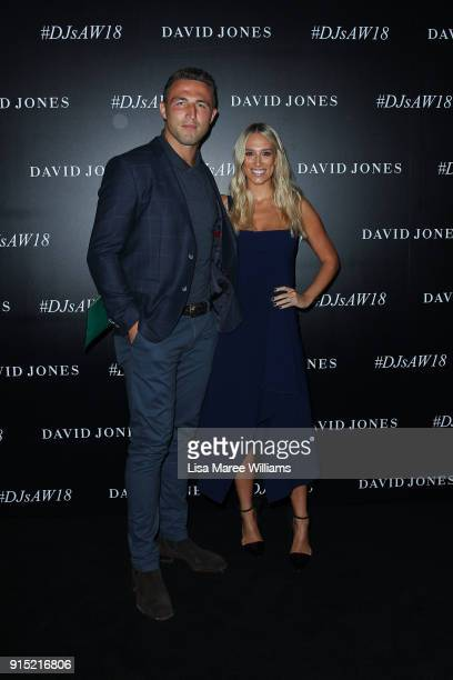 Sam Burgess and Phoebe Hooke arrives ahead of the David Jones Autumn Winter 2018 Collections Launch at Australian Technology Park on February 7 2018...