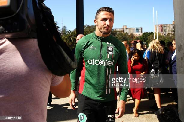 Sam Burgess leaves after speaking to the press during a South Sydney Rabbitohs NRL media opportunity at Redfern Oval on September 18 2018 in Sydney...