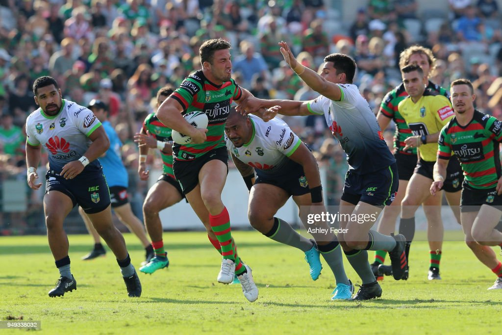 NRL Rd 7 - Rabbitohs v Raiders : News Photo