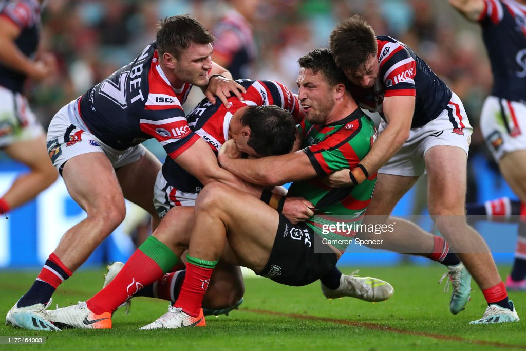 NRL Rd 25 - Rabbitohs v Roosters : News Photo