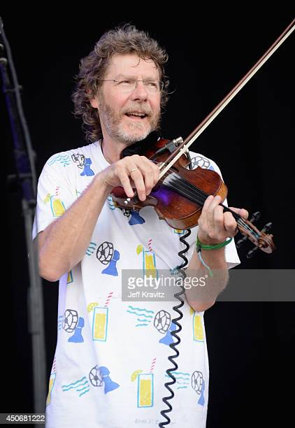 Sam Bush performs with Yonder Mountain String Band onstage at What Stage during day 4 of the 2014 Bonnaroo Arts And Music Festival on June 15 2014 in...