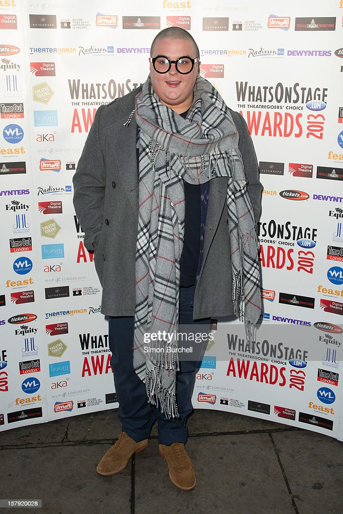 Sam Buttery attends the Whatsonstage.com Theare Awards nominations launch at Cafe de Paris on December 7, 2012 in London, England.