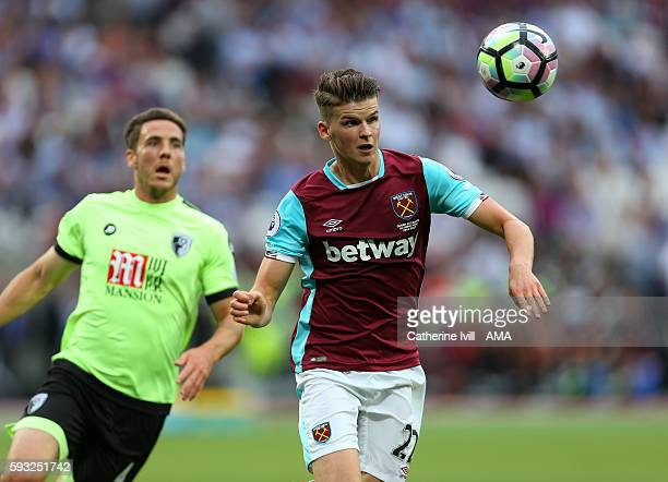 Sam Byram of West Ham during the Premier League match between West Ham United and AFC Bournemouth at Olympic Stadium on August 21 2016 in London...