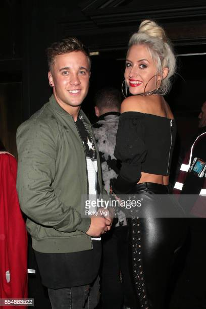 Sam Callahan and Chloe Page seen attending Ella Jade Interiors party at Raffles on September 27 2017 in London England