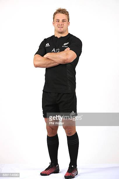 Sam Cane of the All Blacks poses for a portrait during a New Zealand All Black portrait session on May 29 2016 in Auckland New Zealand