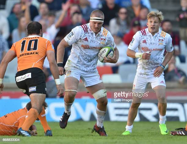 Sam Cane of the Chiefs during the Super Rugby match between Toyota Cheetahs and Chiefs at Toyota Stadium on April 15 2017 in Bloemfontein South Africa