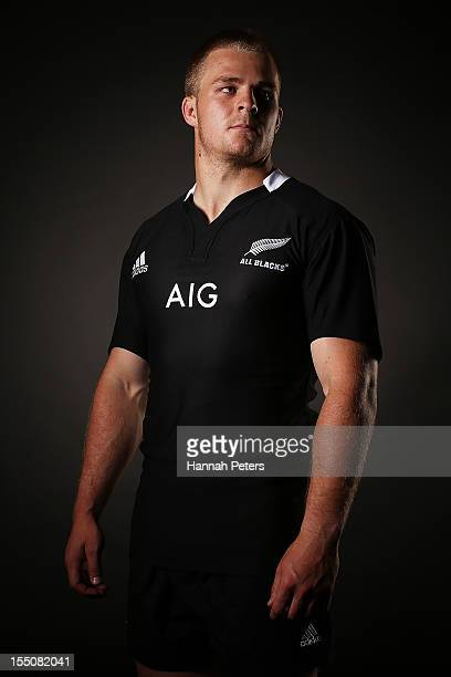 Sam Cane poses during a New Zealand All Blacks portrait session at the Heritage Hotel on November 1 2012 in Auckland New Zealand