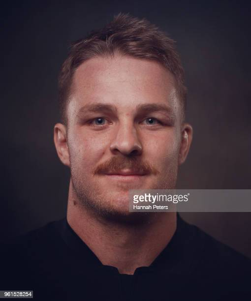 Sam Cane poses during a New Zealand All Blacks portraits session on May 21 2018 in Auckland New Zealand