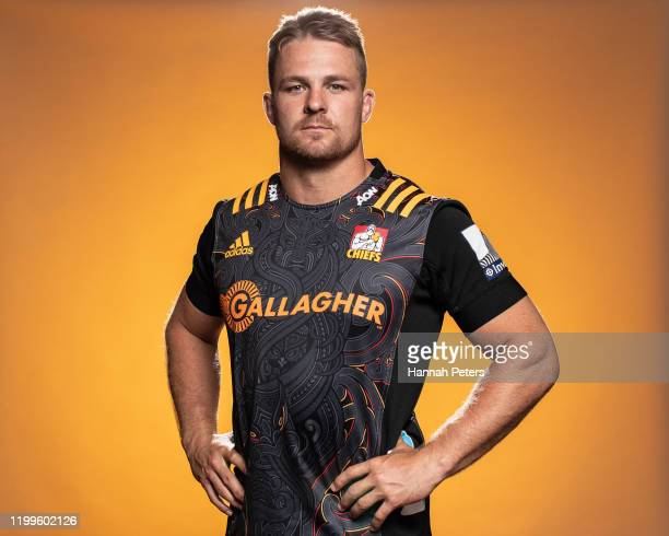 Sam Cane poses during the Chiefs portraits session on January 14, 2020 in Hamilton, New Zealand.
