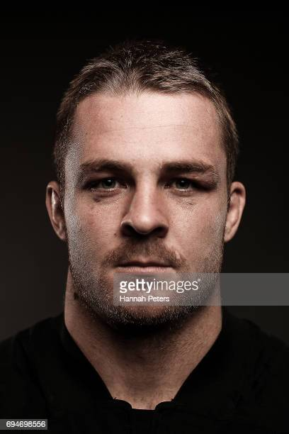 Sam Cane poses for a portrait during the New Zealand All Blacks Headshots Session on June 11 2017 in Auckland New Zealand