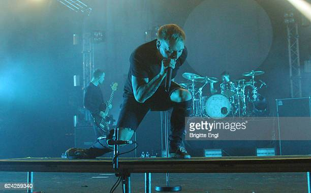 Sam Carter of the Architects performs at O2 Academy Brixton on November 18 2016 in London United Kingdom