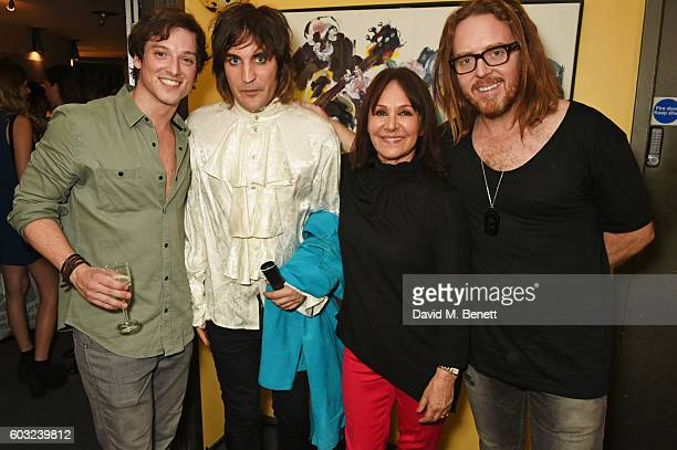 Sam Cassidy Noel Fielding Arlene Phillips and Tim Minchin attend the press night performance of '27' at The Cockpit Theatre on September 12 2016 in...