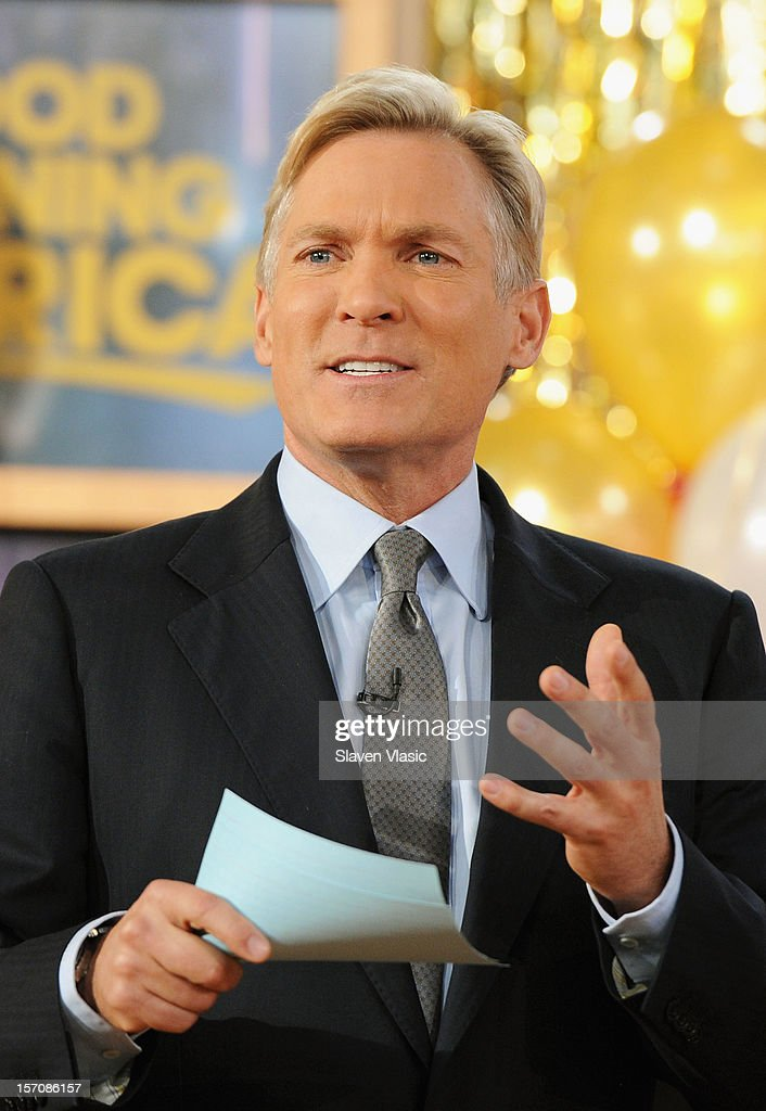 Sam Champion attends ABC's Good Morning America at ABC News' Good Morning America Times Square Studio on November 28, 2012 in New York City.