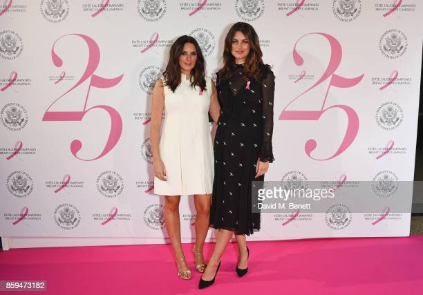 Sam Chapman and Nicola Haste of Pixiwoo attend the 25th Anniversary of the Estee Lauder Companies UK's Breast Cancer Campaign at the US Ambassadors...