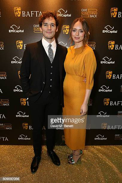 Sam Clafin and Laura Haddock attend the BAFTA Film Gala in aid of the 'Give Something Back' campaign at BAFTA Piccadilly on February 11 2016 in...