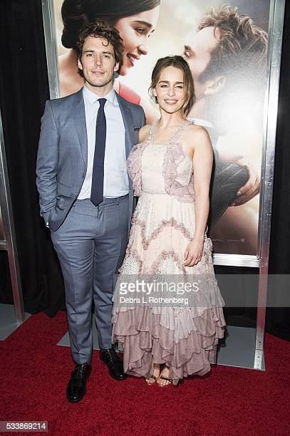 Sam Claflin and Emilia Clarke attend the World Premiere of 'Me Before You' at AMC Loews Lincoln Square 13 theater on May 23 2016 in New York City