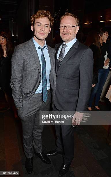 Sam Claflin and Jared Harris attend an after party following the World Premiere of The Quiet Ones at Mint Leaf restaurant on April 1 2014 in London...