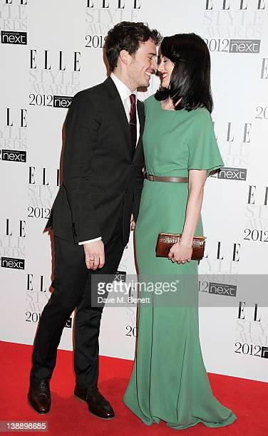 Sam Claflin and Laura Haddock arrive at the ELLE Style Awards at The Savoy Hotel on February 13 2012 in London England