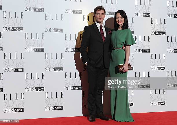 Sam Claflin and Laura Haddock arrive for The Elle Style Awards 2012 at The Savoy Hotel on February 13 2012 in London England