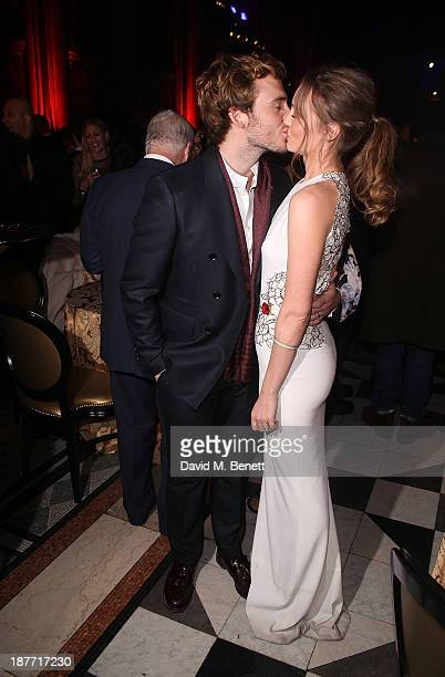 Sam Claflin and Laura Haddock attend an after party following the UK Premiere of The Hunger Games Catching Fire at Royal Courts of Justice Strand on...