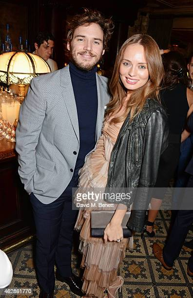 Sam Claflin and Laura Haddock attend Harvey Weinstein's BAFTA Dinner in partnership with Burberry GREY GOOSE at Little House Mayfair on February 6...